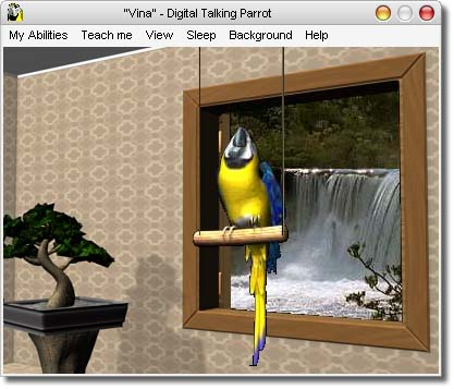 Smart Parrot-like Screensaver That Speaks Out Whatever You Say